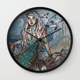 Tempest Mermaid Wall Clock