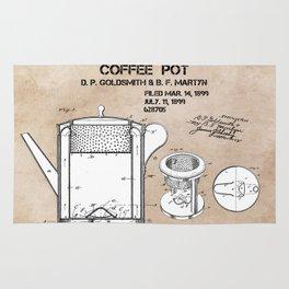Coffee pot Goldsmith Martyn patent art 1899 Rug