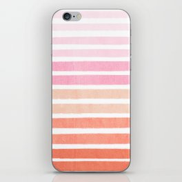 Camil - ombre gradient brushstrokes abstract painting minimalist seaside coastal beach cottage decor iPhone Skin