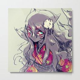 Fox girl sketch Metal Print