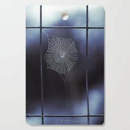 Midnight Blue Spider Web Cutting Board