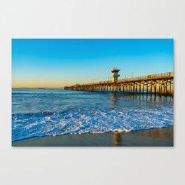 Southside Seal Beach Pier Canvas Print