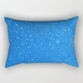 Blue Zircon December Capricorn Birthstone Shimmery Glitter Rectangular Pillow
