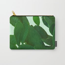 Cactus On Cyan Background Carry-All Pouch