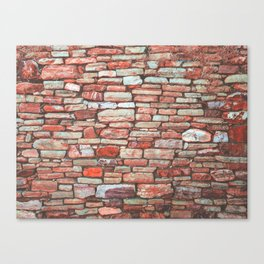 Brick Wall (Color) Canvas Print