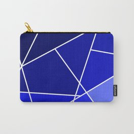 Blue Line Pattern Carry-All Pouch