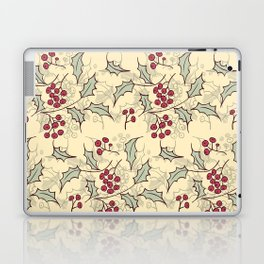 Holly berry Christmas pattern design Laptop & iPad Skin