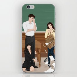 the professor, the pet and the frightened rabbit iPhone Skin