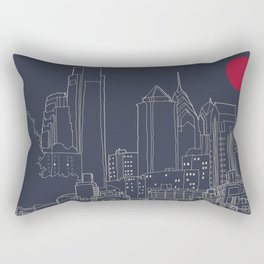Philly Blueprint Rectangular Pillow