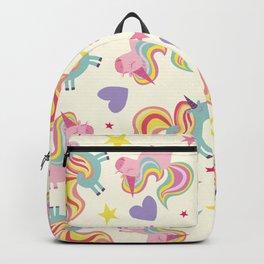 Rainbow Unicorn Pattern Backpack