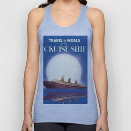 Travel the world by Cruise Ship Unisex Tank Top