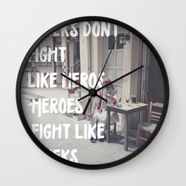 Greeks Quotes Wall Clock