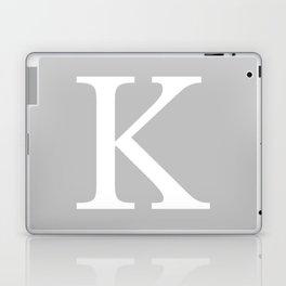Silver Gray Basic Monogram K Laptop & iPad Skin