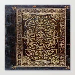 Gilded Leather Tome Canvas Print