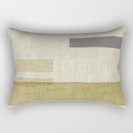 """""""Burlap Texture Natural Shades"""" Rectangular Pillow"""