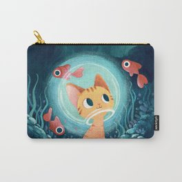 Ginger cat and fishes Carry-All Pouch