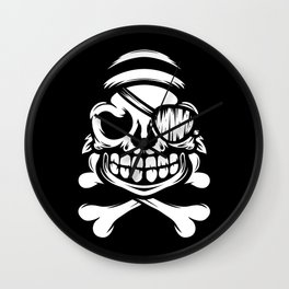 Jolly Pirate Wall Clock