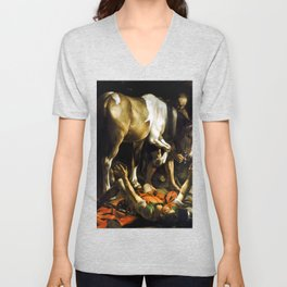 Caravaggio Conversion on the Way to Damascus Unisex V-Neck