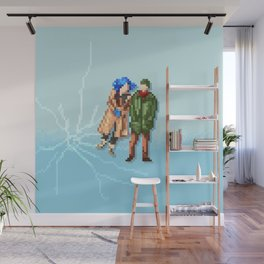 Eternal Sunshine of the Spotless Mind - Pixel Art - Square Wall Mural