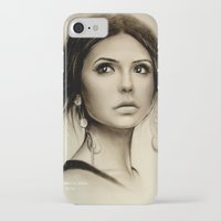 the vampire diaries iPhone & iPod Cases featuring Nina Dobrev The Vampire Diaries  by Yuliya  Talanova
