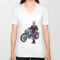 ursula V-neck T-shirts featuring Ursula by Dixie Leota