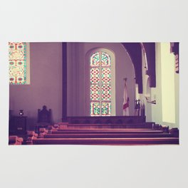 Old Church Stained Glass Rug