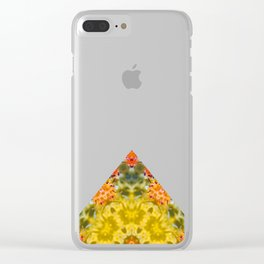 Marigold Kaleidoscope Photographic Pattern #1 Clear iPhone Case