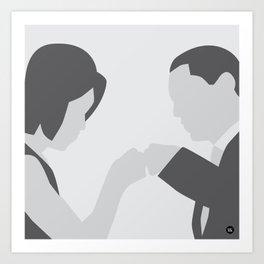 Michelle and Barack Obama Art Print