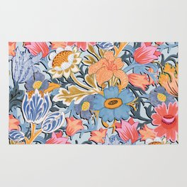 Fantastic Folk Flower Garden Rug
