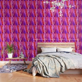 Candy Striped Red & Purple Quartz Wallpaper
