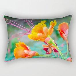 Peacock flower 2 Rectangular Pillow