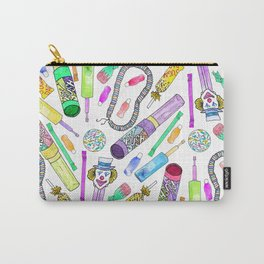 Neon 80's 90's Retro Funny Candy Pattern Carry-All Pouch