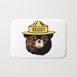 SMOKEY THE BEAR SAYS RESIST Bath Mat