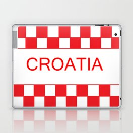 Red chess board Croatia Laptop & iPad Skin