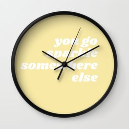 sparkle somewhere else Wall Clock