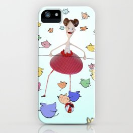 Birds in the circus iPhone Case
