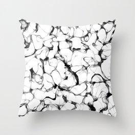 Wires Black & White Throw Pillow