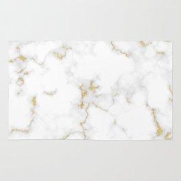 Fine Gold Marble Natural Stone Gold Metallic Veining White Quartz Rug