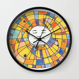 Morning Light through the Stained Glass Sun Wall Clock