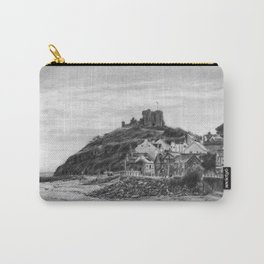 Criccieth Beach Wales UK Pencil Drawing Carry-All Pouch
