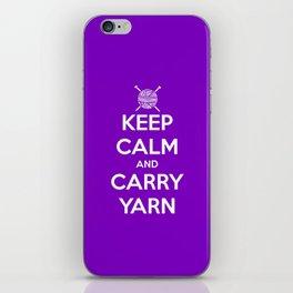 Keep Calm and Carry Yarn - Purple solid iPhone Skin