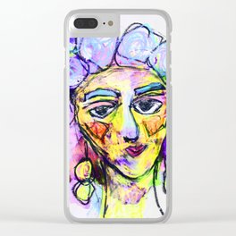 She kept it all to herself Clear iPhone Case