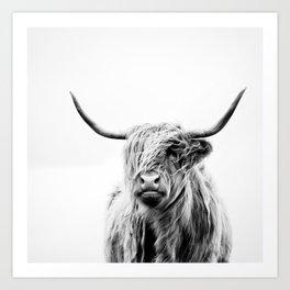 portrait of a highland cow Art Print