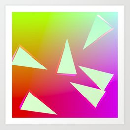 bizarre love triangle Art Print
