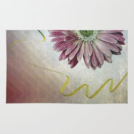 violet daisy with ribbon Rug