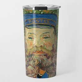 Portrait of the Postman Joseph Roulin by Vincent van Gogh Travel Mug