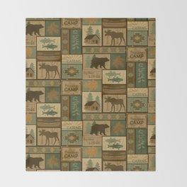 Big Bear Lodge Throw Blanket