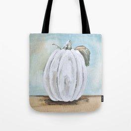 Tall white pumpkin Tote Bag