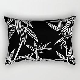 White Bamboo Rectangular Pillow