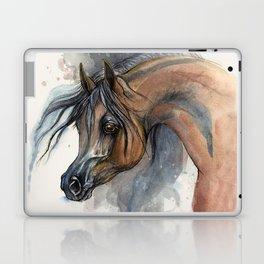 Arabian horse portrait Laptop & iPad Skin